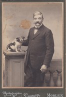 Photos  Anciennes G CDV Morlaix Homme Debout Avec Son Chien Photo  Maze Launay Morlaix  N° 319 - Anciennes (Av. 1900)