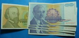 YUGOSLAVIA Lot Of 5 Banknotes - Jugoslavia
