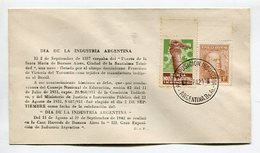 SOBRE DIA DE LA INDUSTRIA ARGENTINA MATASELLO AG. EXPOSICION INDUSTRIA BUENOS AIRES 1942 SPC VIÑETA RARA -LILHU - Fábricas Y Industrias