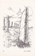 AP23 Ring Of Brogar, Orkney - Artist Drawn, Plain Back - Shetland