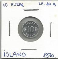 A4 Iceland 10 Aurar 1970. KM#10a - Islande