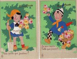 """LOT DE 2 CARTES  """"ENFANTS"""" Edition Léo Paris - Illustrators & Photographers"""