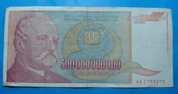 YUGOSLAVIA 500000000000 Dinara 1993 - Yugoslavia
