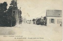 10. HOOGSTAEDE : Grande Route Vers Furnes - Cachet De La Poste 1920 - Alveringem