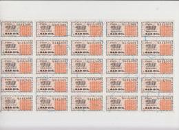 PLANCHE DE TICKETS DE RATIONNEMENT GAS-OIL N° 0411509 - Titres De Transport