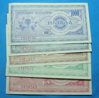 MACEDONIA Lot Of 5 Banknotes - Bulgarie