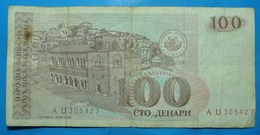 MACEDONIA 100 Denara 1993 - Bulgarie