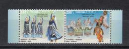 Armenia Armenien MNH** 2018 Armenia-India Joint Issue. National Dances  Mi 1070-71 M - Gemeinschaftsausgaben