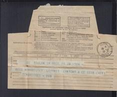 Telegramme 1938 Paris Rue Bayen - 1921-1960: Periodo Moderno