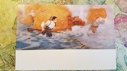 "KOREA NORTH PROPAGANDA Postcard "" Women Of Namgan Village"" By Kim Kwan 1950s  Military - Corée Du Nord"