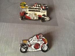 Pins SUZUKI HONDA MC LAREN Ayrton Senna Gerhard Berger - Pin's
