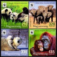 Hungary - 2018 - WWF Hungary - Earth's Iconic Animals - Mint Stamp Set - Hungary