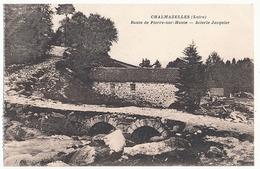 CHALMAZELLES - ROUTE DE PIERRE SUR HAUTE - SCIERIE JACQUIER ( C P DE CARNET) - France
