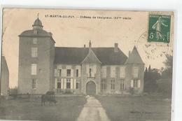 58 Saint Martin Du Puy Chateau De Vesigneux Animée Vaches - Cosne Cours Sur Loire