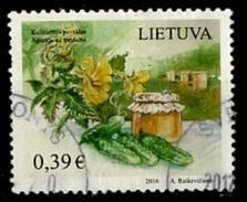 Lituanie - Lithuania - Litauen 2016 Y&T N°(1) - Michel N°1221 (o) - 0,39€ Concombre - Lituanie