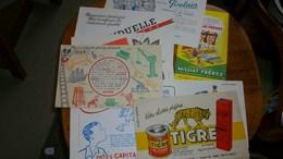 Buvard Publicitaire Lot De 9 Différents - Buvards, Protège-cahiers Illustrés