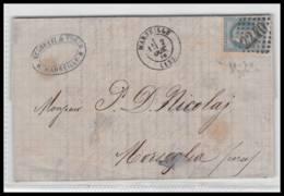 Lettre-0189 Bouches Du Rhone Marseille Napoléon N°29 T1 Gc 2240 Pour Morsiglia CORSE Cachet TYPE 22 Centuri - Marcophilie (Lettres)
