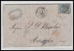 Lettre-0189 Bouches Du Rhone Marseille Napoléon N°29 T1 Gc 2240 Pour Morsiglia CORSE Cachet TYPE 22 Centuri - Marcofilia (sobres)