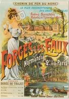 Publicité Sur Carte Postale - Forges Les Eaux (Chemin De Fer Du Nord) - Advertising