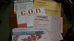 Buvard Publicitaire Lot De 6 Différents - Buvards, Protège-cahiers Illustrés