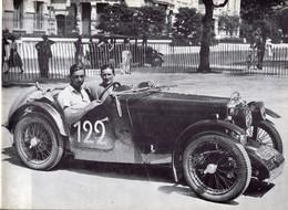 Rallye Coupe Des Alpes 1933  -  M.G. J3  -  Pilote: W.E.Belgrave  -  15x10cms PHOTO - Rally