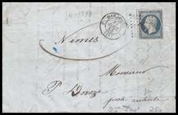 Lettre-0060-Bouches Du Rhone Marseille Napoléon N°10 Répubique Pc 1896 Pour Ouvèze POSTE RESTANTE 1853 3ème Arrondisseme - Marcophilie (Lettres)