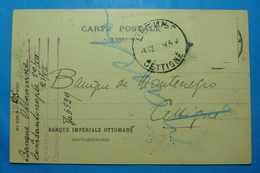 1908 MONTENEGRO & OTTOMAN IMPERIALE BANQUE CHEQUE CARTE POSTALE, Seal CETINJE, Without Stamp - Billets