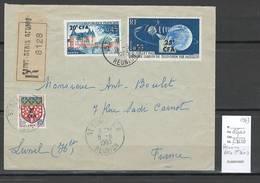 Reunion - Lettre Recommandée De Saint Denis - 1963 - Reunion Island (1852-1975)
