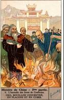 Chromo Liebig  HISTOIRE DE CHINE 1 ERE PARTIE  L INCENDIE DES LIVRES - Liebig
