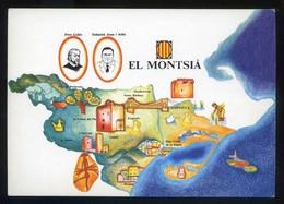 *El Montsià* Congrès Cultura Catalana 1977. Campanya Identificació Del Territori. Nueva. - Mapas