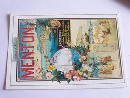 """Affiche Reproduite Dans Le Livre """"affiches D'azur"""" - Menton - Advertising"""
