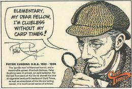 Peter Cushing Sherlock Holmes Hammer Horror Calendar Postcard - Acteurs