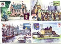 Lot 7 Carte Cachet Poste Aland Diverse Exposition à Voir - Aland