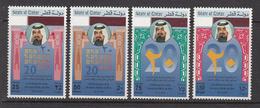 1992 Qatar 20th Anniv Accession Sheik Khalifa Set Of 4 MNH - Qatar