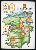 *El Berguedà* Congrès Cultura Catalana 1977. Campanya Identificació Del Territori. Nueva. - Mapas