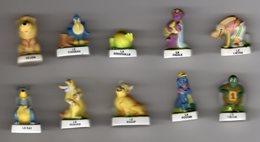 Série Complète 10 Fèves Mâtes LES FABLES DE LA FONTAINE 2005 - Animals