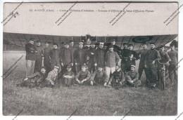 CPA AVORD (18) - Centre Militaire D'aviation - Groupe D'officiers Et Sous-officiers Pilotes (écrit Par Palefrenier) 1915 - Caserme