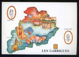 *Les Garrigues* Congrès Cultura Catalana 1977. Campanya Identificació Del Territori. Nueva. - Mapas