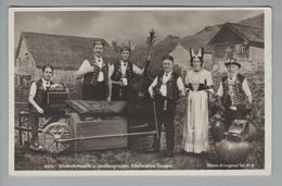 AK Motiv Musik 1932-12-04 Foto Streichmusik + Jodlergruppe Edelweiss #6015 - Musique Et Musiciens
