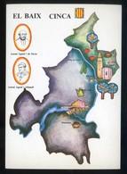 *El Baix Cinca* Congrès Cultura Catalana 1977. Campanya Identificació Del Territori. Nueva. - Mapas