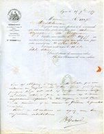LYON.PHARMACIE CENTRALE DE FRANCE.DORVVAULT & Cie.TIMBRE & CACHET 1859. - Non Classificati