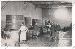 TRES RARE CPA AVENAY (51) : La Champagne Illustrée - Les Vendanges : Livraison Du Vin Nouveau (cuves, Barriques) - Vignes
