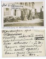CARTE PHOTO AUTOGRAPHE GEORGETTE LEBLANC MAETERLINK - Autographes