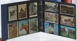 Paquet De 10 Feuilles De Classement Fond Gris Réf. 3021 Pour Cartes Postales Anciennes Vertic. Album Lindner XL à - 50% - Matériel