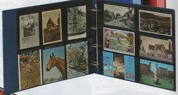 Paquet De 10 Feuilles De Classement Fond Gris Pour Cartes Postales Anciennes Horizontales. Album Lindner XL à - 50% - Materiali