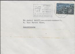 3302   Carta  Luxembourg, 1970, Flamme, Tournoi Sportif International  Des Finances, - Luxemburg