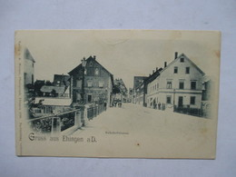 EHINGEN  A  D  ( GRUSS AUS  ...)    -   PRECURSEUR DE 189.   -  BAHNOFSTRASSE           TTB - Germany