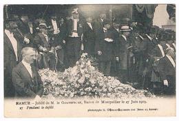 CPA : NAMUR - Jubilé De M. Le Gouverneur Baron De Montpellier 27 Juin 1909 - Le Gouverneur Pendant Le Défilé - Namur