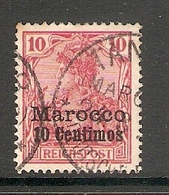 006589 German PO In Morocco 1900 10c FU - Offices: Morocco