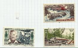 Cameroun Poste Aérienne N°43, 45, 46 Cote 5.30 Euros - Kamerun (1915-1959)